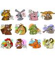 chinese cartoon zodiac signs vector image