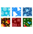 christmas textures vector image vector image