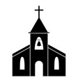 church icon black and white pictograph depicting vector image