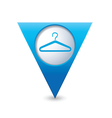 clothers hanger icon pointer blue vector image vector image