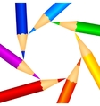 color pencils as background vector image
