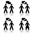 Conversation vector image vector image