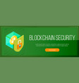 cryptocurrency security banner vector image vector image