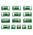 Danger exit warning sign vector image