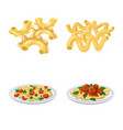 design of pasta and carbohydrate icon set vector image