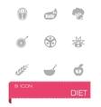 Diet icon set vector image