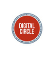 digital circle digital technology background vector image vector image