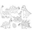 Dinosaurs Set vector image vector image