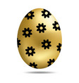 easter golden egg isolated on white background vector image vector image