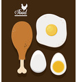 Food infographic design vector image