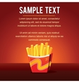 French Fries Template vector image