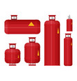 gas tank set icon in flat style vector image vector image