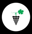 Grapes fruit simple black and green icon eps10