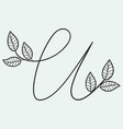 handwritten letter u monogram or logo brand vector image vector image