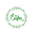 happy easter day celebration festival flat frame vector image