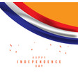 happy netherlands independence day template design vector image