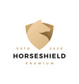 horse shield logo icon vector image vector image