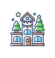 house decoration rgb color icon vector image