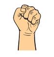 Human hand fist vector image