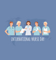 international nurse day clinical professional vector image vector image