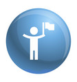 man with flag icon simple style vector image