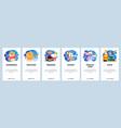 mobile app onboarding screens breakfast food vector image vector image