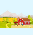 mountain countryside vector image vector image
