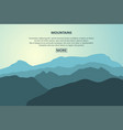 mountains journey page vector image vector image