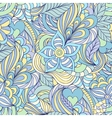 pattern with abstract flowersleaves and hearts vector image vector image