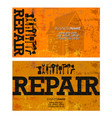 repair and service business card vector image vector image