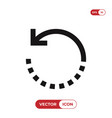 rotate icon vector image vector image
