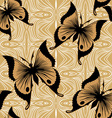 Seamless Butterfly Wallpaper vector image vector image