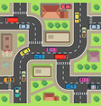 seamless city map top view building and street vector image vector image