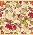 seamless pattern autumn deciduous ornament vector image vector image