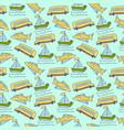 seamless pattern sea freight pattern vector image