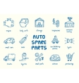 set auto spare parts vector image vector image