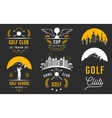 set golf logo labels and emblems vector image