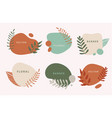 set liquid organic forms and badges vector image