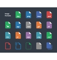 Set of Image File Labels icons vector image