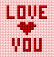 Silky valentine pattern postcard