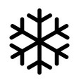 snowflake made of black lines one on a white vector image vector image