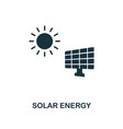 solar energy icon monochrome style design from vector image vector image