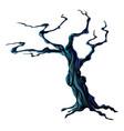 spooky halloween tree vector image