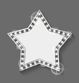 star shaped banner with copy space frame silver vector image vector image