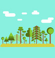 summer tree forest flat vector image vector image