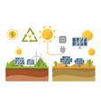 sun solar energy power electricity technology vector image vector image