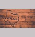 texas map brand vector image vector image