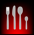 fk spoon and knife vector image