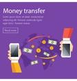 Mobile money transfer concept vector image