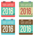 2016 New Year Calendar vector image vector image